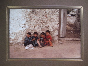 Children in a village on Pico de Orizaba/ Citlaltépetl