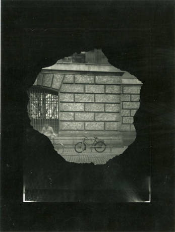 """Mauerblicke looking West"" - image made with pinhole camera through a hole in the Berlin Wall, Germany"