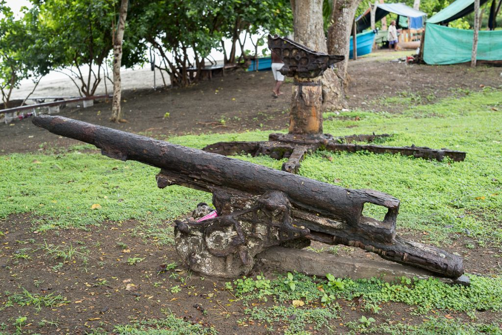 Red Beach WWII Rusting Howitzer