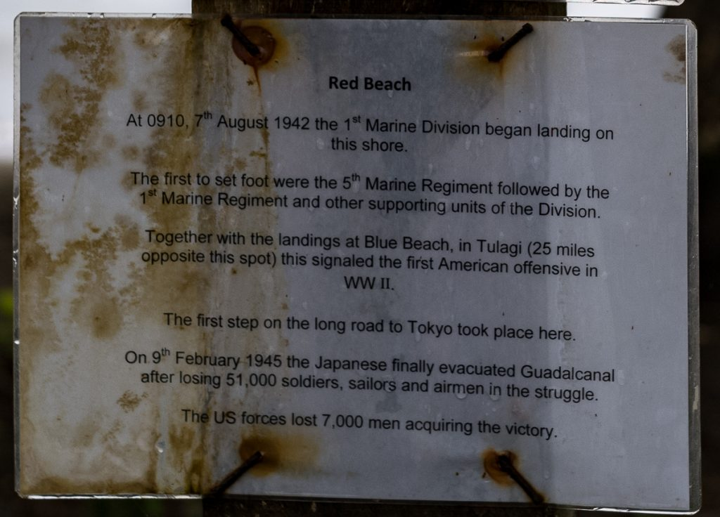 Marker Sign at Red Beach