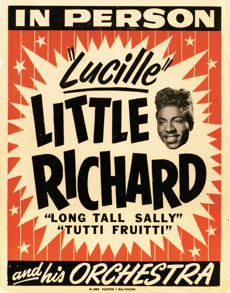 Poster for a Little Richard Concert in Baltimore, circa 1956