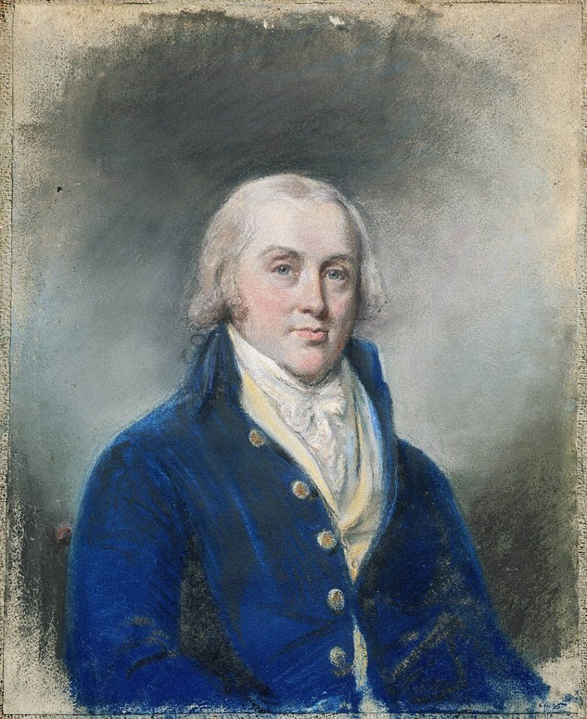 James Madison at the College of New Jersey in Princeton. Portrait by British Painter James Sharples