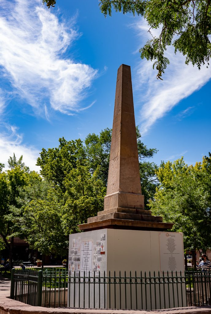 Santa Fe Plaza Civil War Obelisk-Monument Before Its Destruction