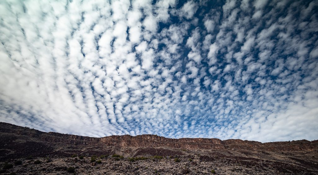 'Mackerel' Clouds West Rim of the Rio Grande Gorge